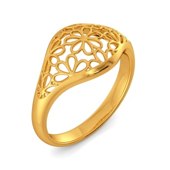 Lacy Notes Gold Rings