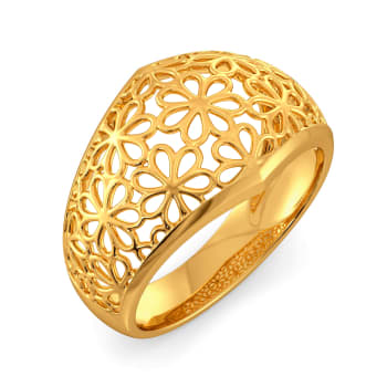 Slice of Lace Gold Rings