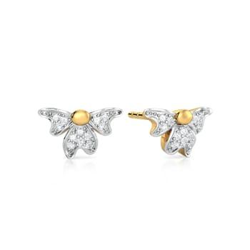 Flower Devour  Diamond Earrings