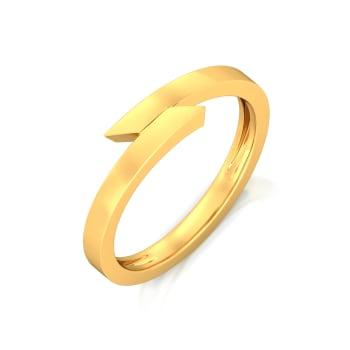Love Triangle Gold Rings