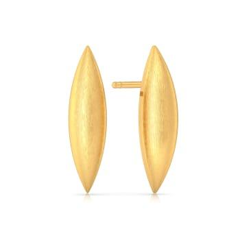 Flex Convex Gold Earrings