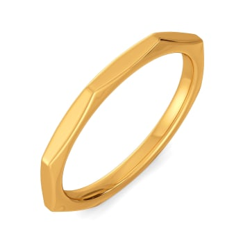 Cool Currents Gold Rings