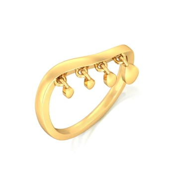Floral Chimes Gold Rings