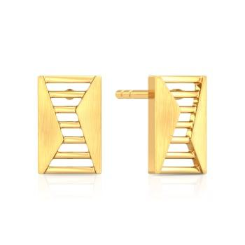 Style Ladder Gold Earrings