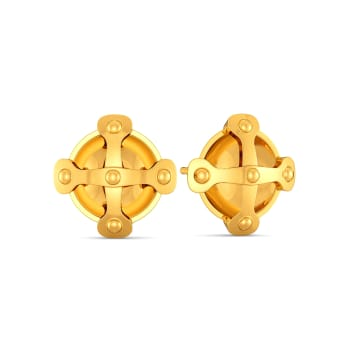 Belts N Buckles Gold Earrings