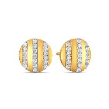 Snap N Button Diamond Earrings