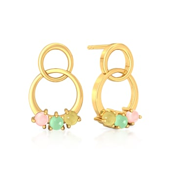 Cassatta Cream  Gemstone Earrings