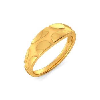 Curl Unfurl II Gold Rings