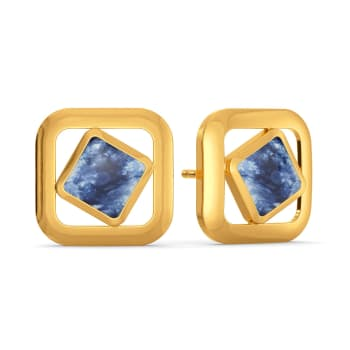 Blended in Blue Gold Earrings