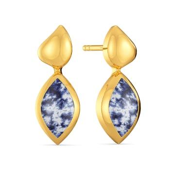 Happy Hued Gold Earrings