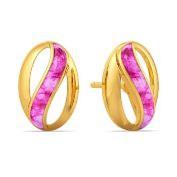 Watercolour Love Gold Earrings