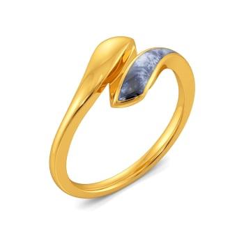 Dip Dyed Gold Rings
