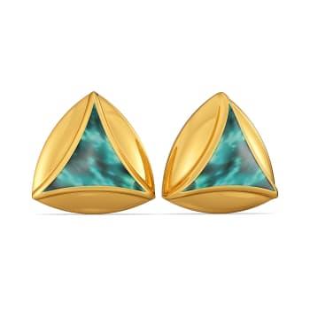 Splash N Tied Gold Earrings