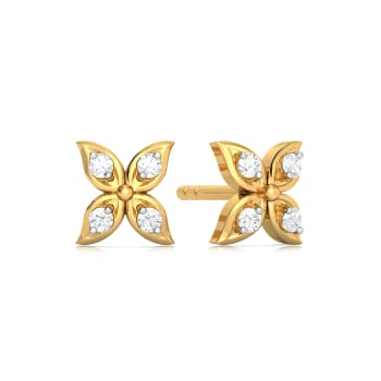 Four Flora  Diamond Earrings