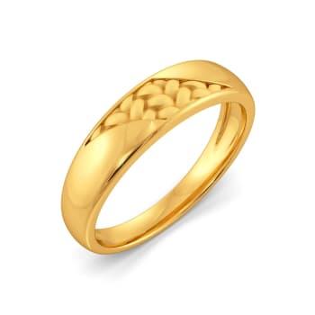Peek A Weave Gold Rings
