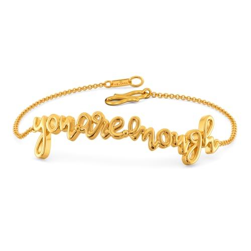 You Are Enough Gold Bracelets
