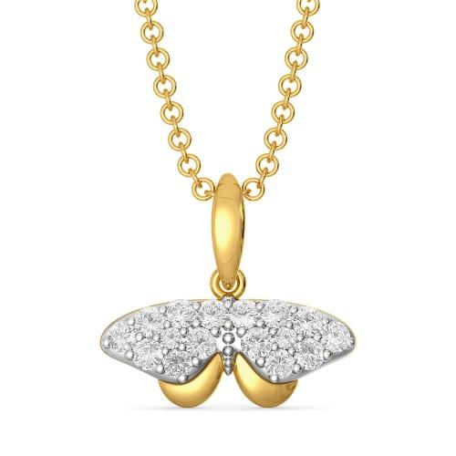 Swing a wing Diamond Pendants