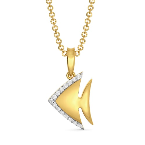 Fin and Fine Diamond Pendants