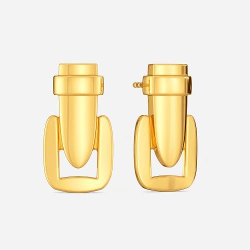 Helix Streak Gold Earrings