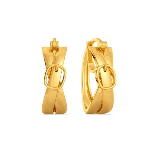 Flatter Me Belt Gold Earrings