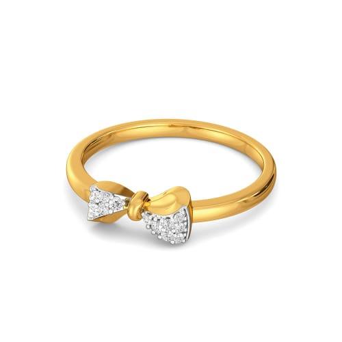Swirly Bows Diamond Rings