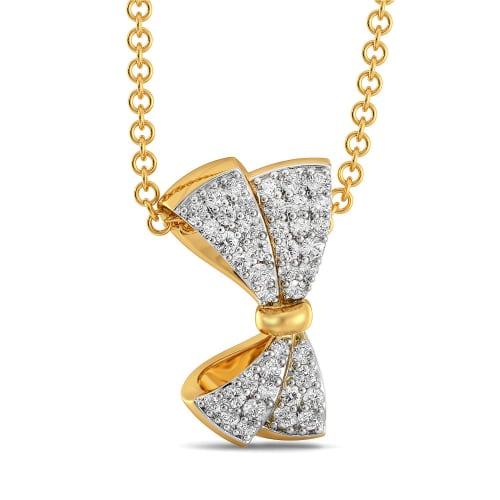 Swirly Bows Diamond Pendants