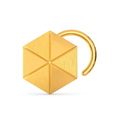 Hexa Hails Gold Nose Pins