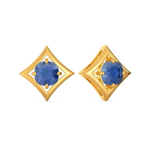 Spruced Up Blue Gemstone Earrings