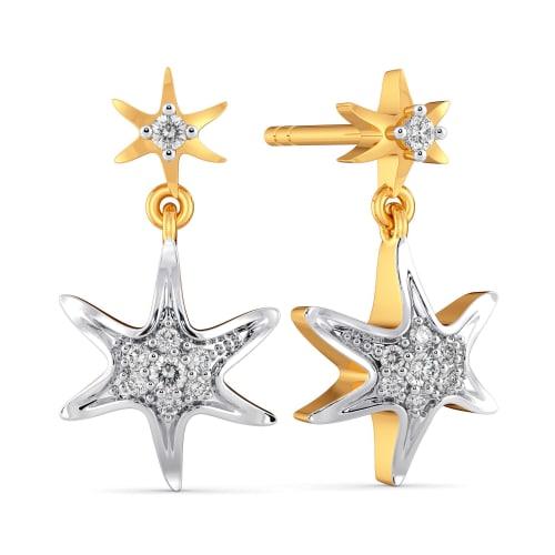 Surfin Stars Diamond Earrings