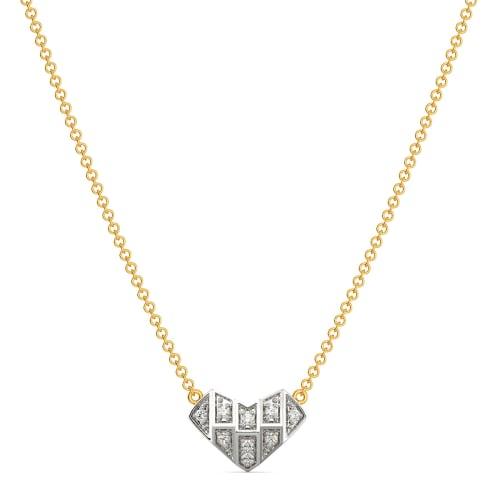 Heart Grids Diamond Necklaces