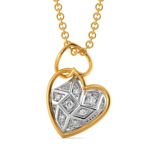 Tartan Heart Diamond Pendants
