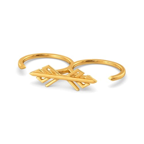 Frond So Strong Gold Rings