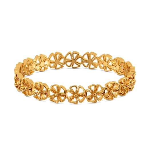 Fearless Watercress Gold Bangles