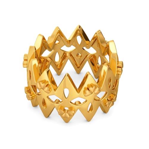 Floral Braid Gold Rings