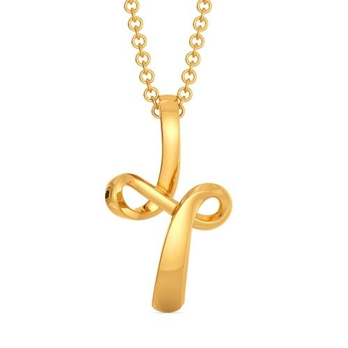 Twin Twirls Gold Pendants