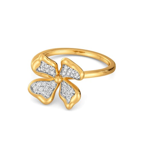 Floral Flutter Diamond Rings