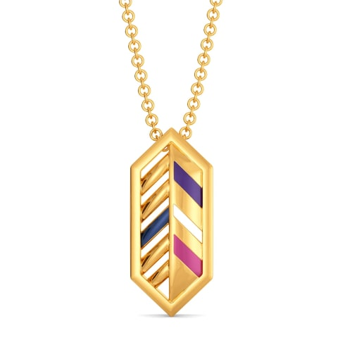 Feather Hues Gold Pendants
