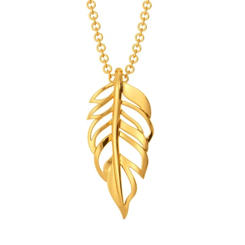 Feather Frizz Gold Pendants