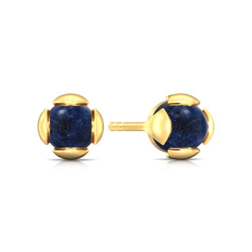 Berry Blue Gemstone Earrings
