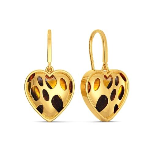 Leopard Love Gemstone Earrings