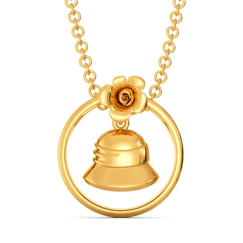 Floret Bucket Gold Pendants