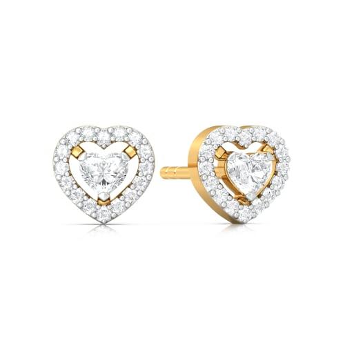 Ace of Hearts Diamond Earrings