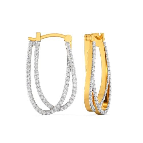 Breezy Shirts  Diamond Earrings