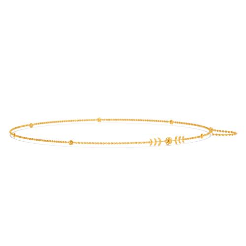Floral Fancy Gold Waist Chains