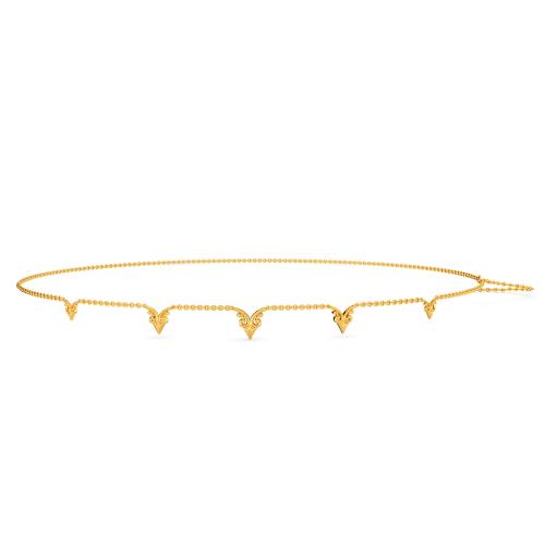 Floral Elegance Gold Waist Chains