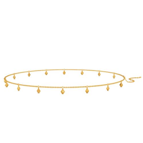 Cross Check Gold Waist Chains