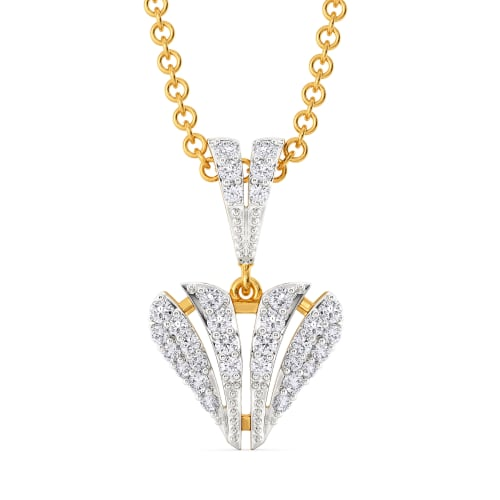 Romantic Symmetry Diamond Pendants