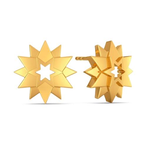 Inter Stellar Gold Earrings