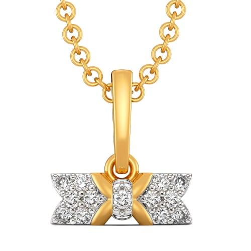 Ribbon Revolt Diamond Pendants