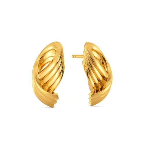Twirl Tale Gold Earrings
